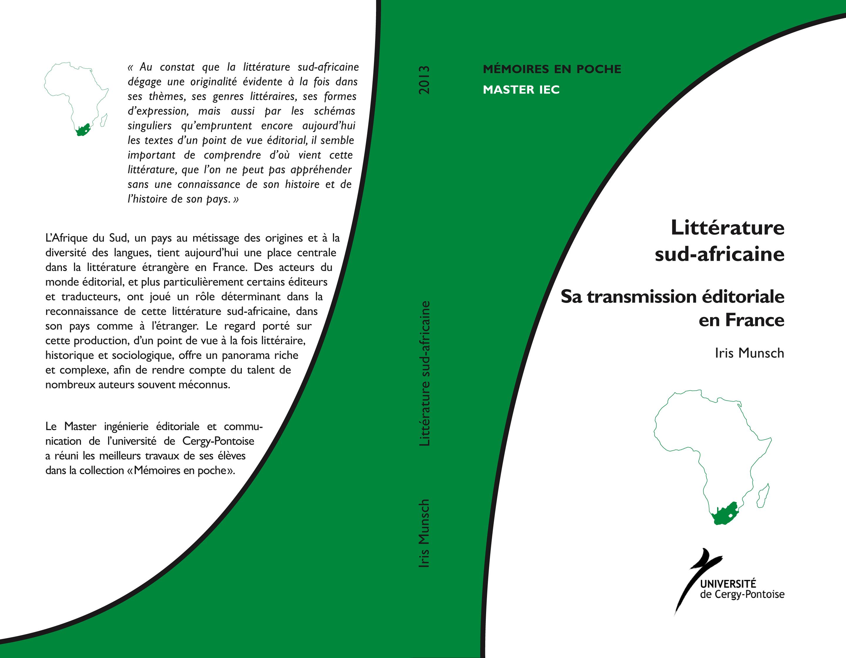 Couverture La littérature sud-africaine