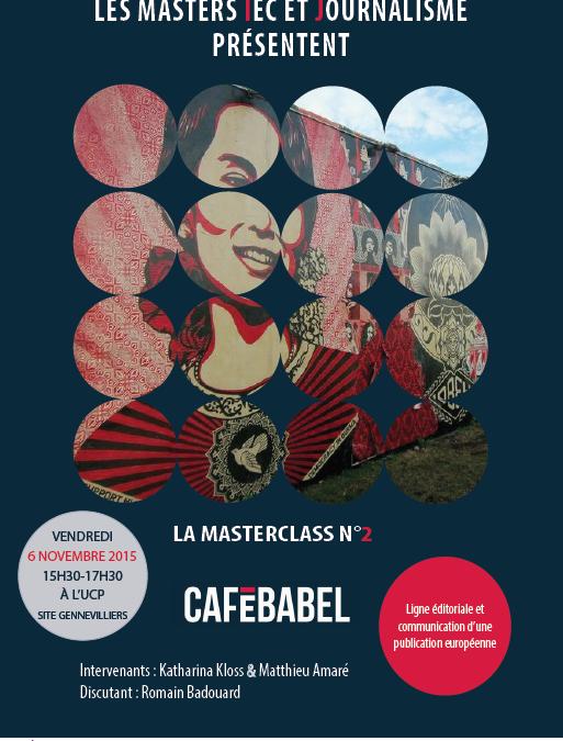 Masterclass Ligne journalistique, éditoriale et communication d'une publication européenne numérique