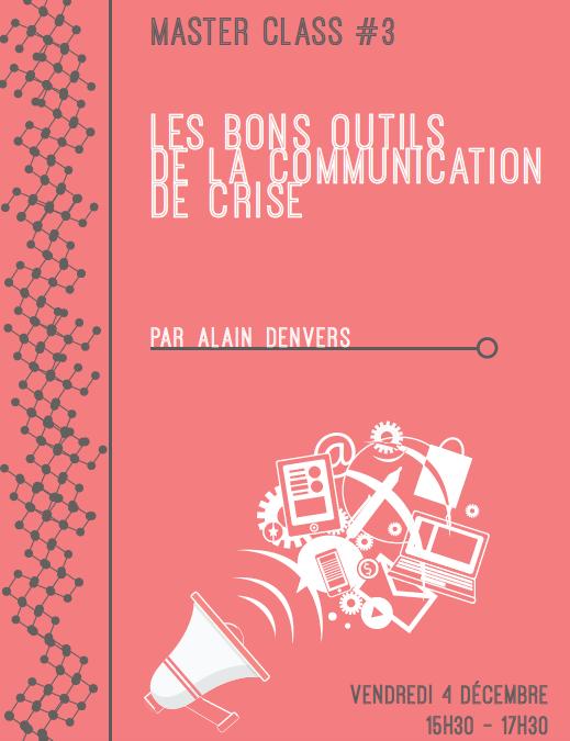 Masterclass Les bons outils de la communication de crise