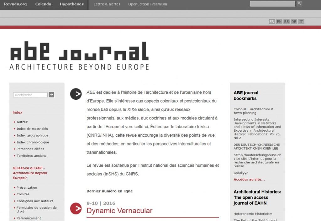 La revue est disponible sur la plateforme revues.org dans cinq langues différentes.