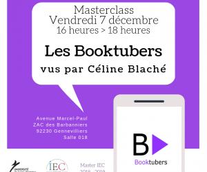 Masterclass Booktubers – Une application de Céline Blaché – 07/12/18