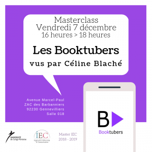 Masterclass Booktubers – Une application de Céline Blaché – 07/12/18