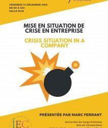 """Masterclasse de Marc Ferrant «Mise en situation de crise» / """"Crisis situation in a company"""" – 14/12/2018"""