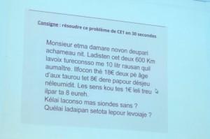 Problèmes de mathématiques du niveau d'un CE1 sous le point de vue d'enfants en surcharge cognitive.